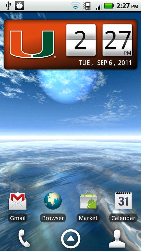 Miami Hurricanes Clock Widget - screenshot