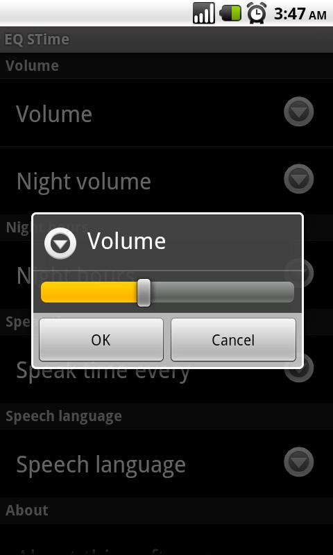 Speaking Clock - EQ STime- screenshot