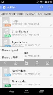abFiles (Acer Remote Files) - screenshot thumbnail