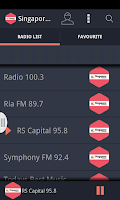 Screenshot of Singapore Radio