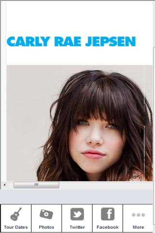 Carly Rae Jepsen Zone - screenshot