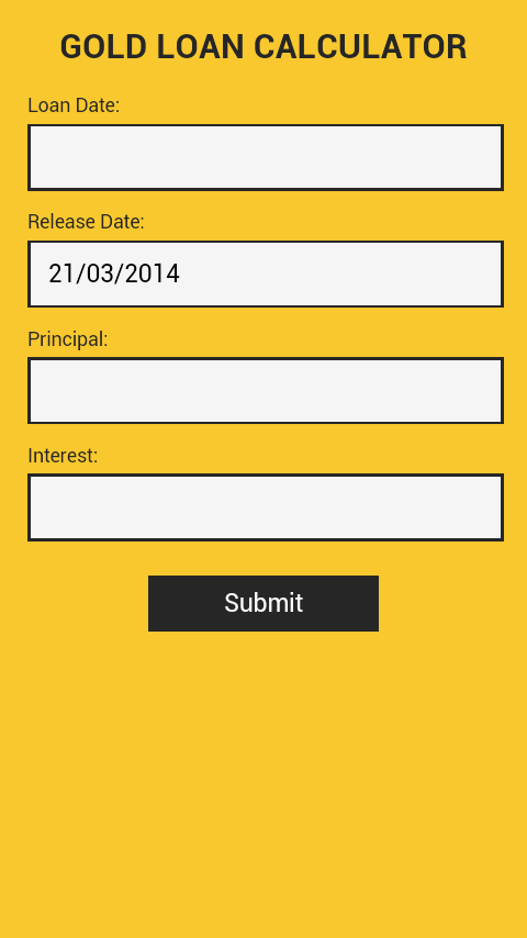 Gold Loan Calculator - Android Apps on Google Play