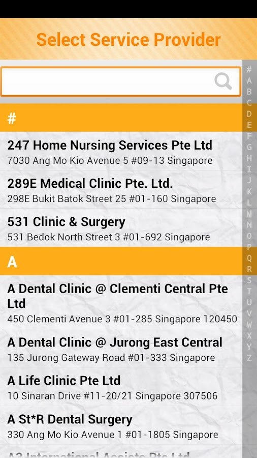 Mobile E-care Locator (MEL)- screenshot