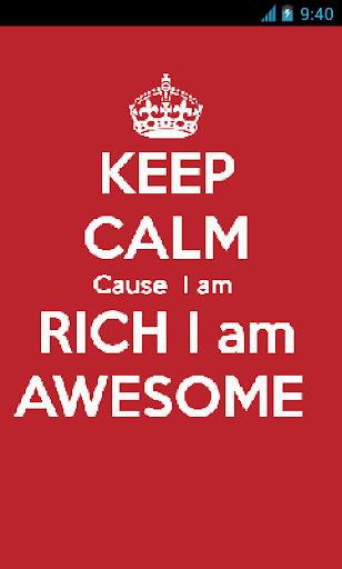 Keep Calm Rich