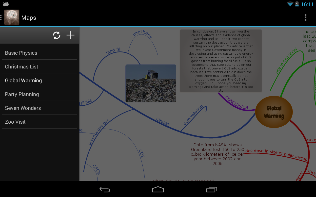 Connected Mind (mind mapping)- screenshot