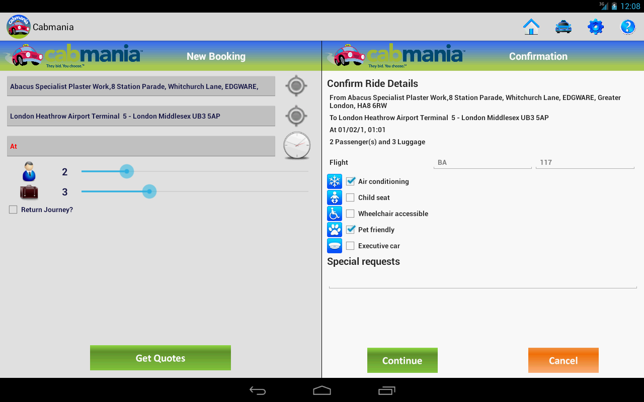 Cabmania UK- screenshot