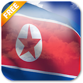 3D North Korea Flag LWP
