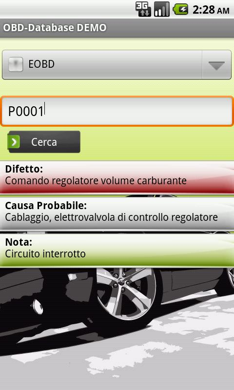 OBD-Database Italiano DEMO - screenshot