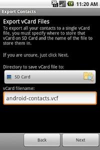 Export Contacts v1.0.3