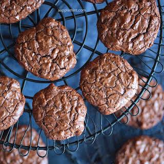 Gluten Free • Double Chocolate • Chewy Gooey Cookies.