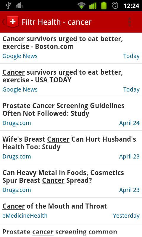 Filtr Health - screenshot