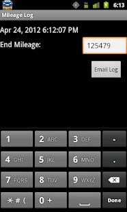 Mileage Log - screenshot thumbnail