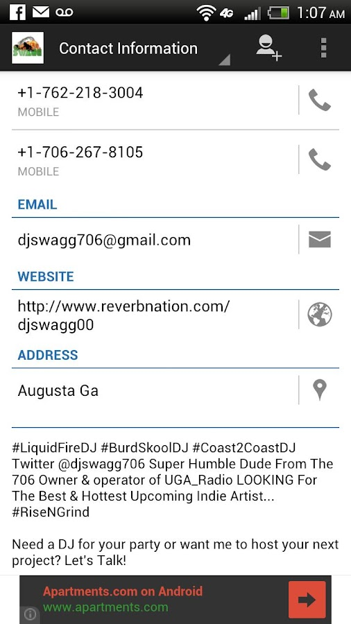 DJ Swagg706 Mobile- screenshot