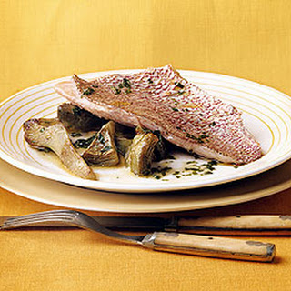 Roasted Snapper with Artichokes and Lemon