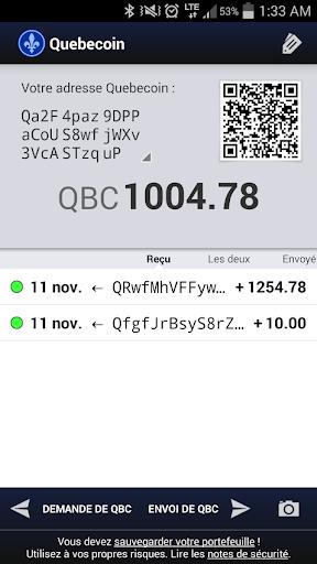 Quebecoin Wallet
