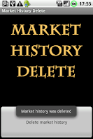 Screenshot of History Delete for Google Play