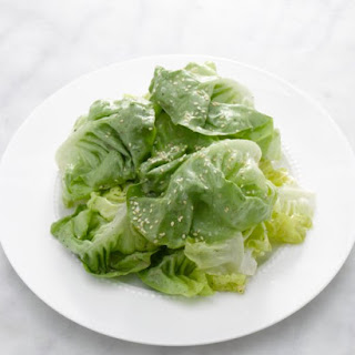 Stacked Butter Lettuce Salad.