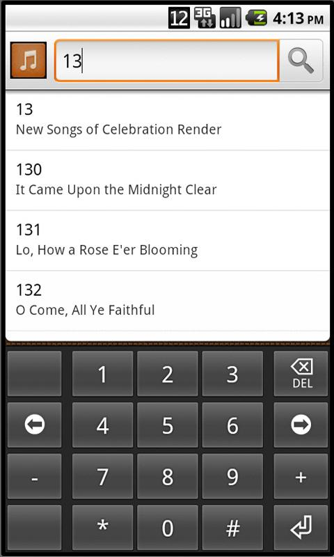 Adventist Hymnal- screenshot
