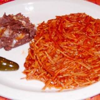 Mexican tomato pasta (Fideo)