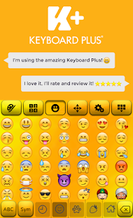 Yellow HD Keyboard Theme - náhled