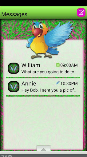 ColorfulBirds GO SMS THEME