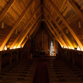 Sanctuary by Laura Gardner - Novices Only Objects & Still Life ( silent night, god, church, faith, nd, night time,  )