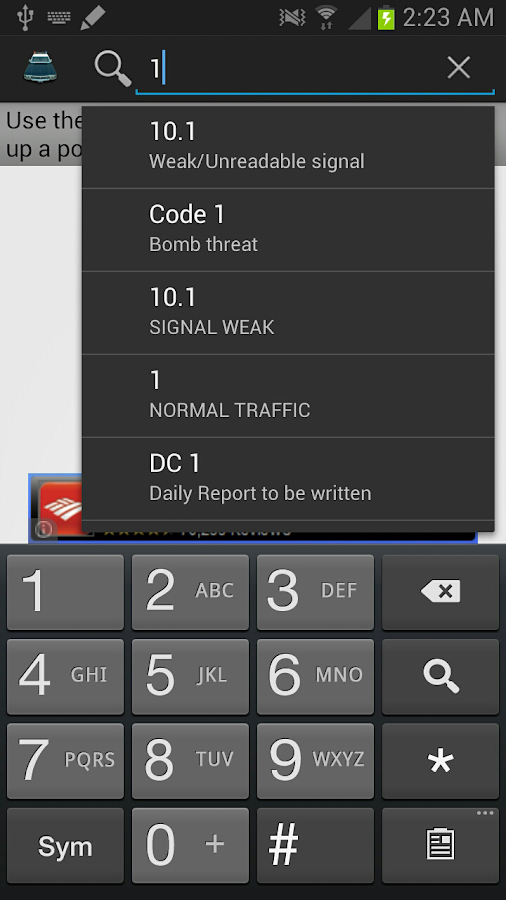 Police Scanner Radio Codes- screenshot