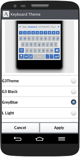 GreyBlue Keyboard LG THEME