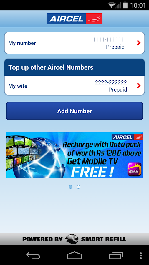 Aircel Pocket Payment - screenshot