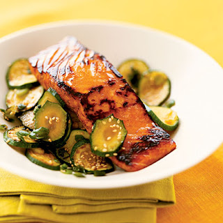 Teriyaki Salmon with Zucchini.