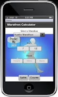 Screenshot of Marathon Calculator