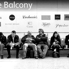 Ground Floor Balcony by Michael Summers - People Street & Candids