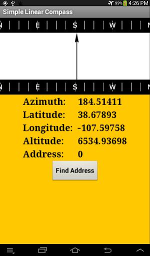 【免費工具App】Linear Compass and GPS address-APP點子