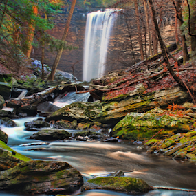 Lower Piney Falls by Steve Rogers - Landscapes Waterscapes ( cascade, waterfall, creek, tennessee, avalon-art.com )