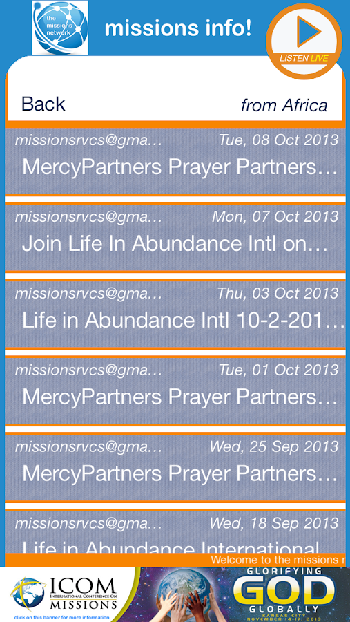 the missions network- screenshot