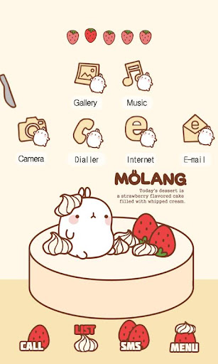 CUKI Theme Strawberry Molang