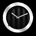 Silver Black Clock Widget icon