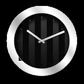 Silver Black Clock Widget
