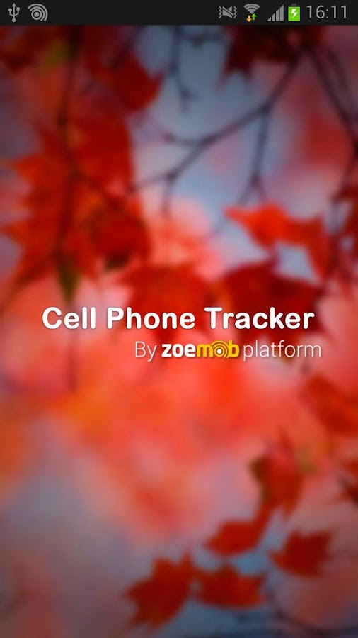 Cell phone tracker - screenshot