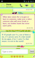 Screenshot of Secret Call&SMS- Green style