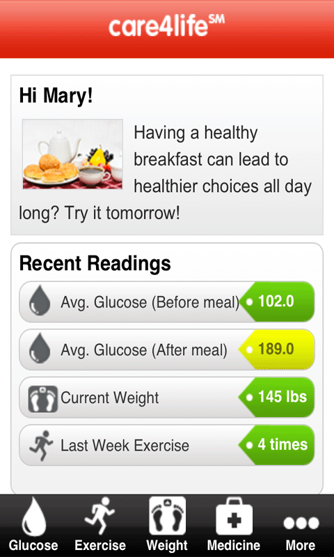 Care4life Diabetes - screenshot