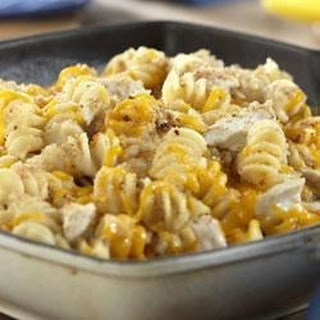 Tuna and Pasta Cheddar Melt.