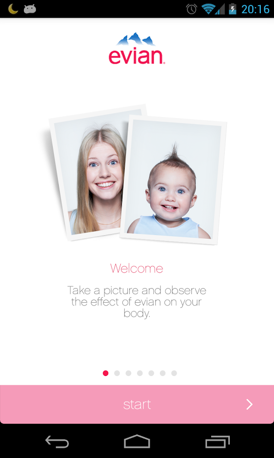 evian baby&me app - reloaded - screenshot