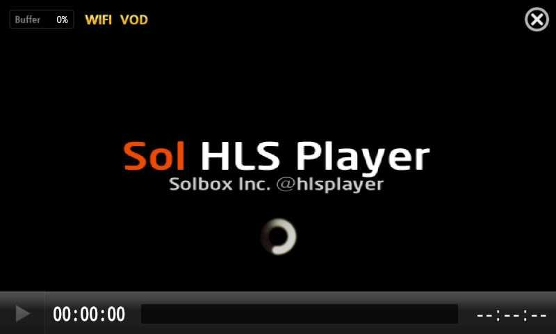 Sol HLS Player - screenshot