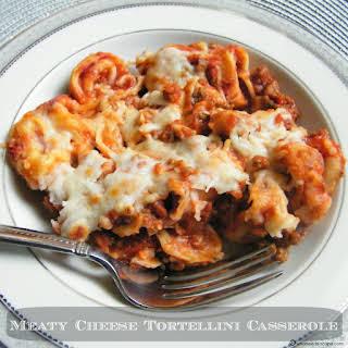 Meaty Cheese Tortellini Casserole.