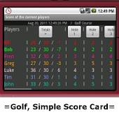 Golf Simple Score Card