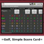 Golf Simple Score Card