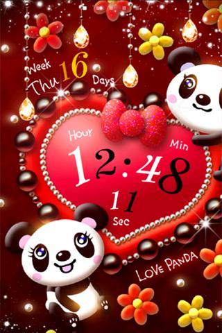 Love Panda LiveWallpaper Trial