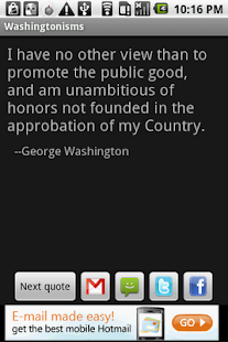 Washingtonisms - screenshot thumbnail