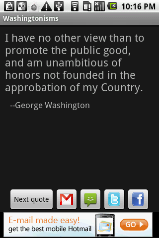 Washingtonisms - screenshot